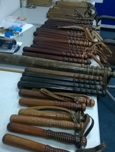 Sharing an image from our salvage mission to Central Stores at Police HQ. We asked our followers on Facebook to help us identify these truncheons and were overwhelmed with the response.