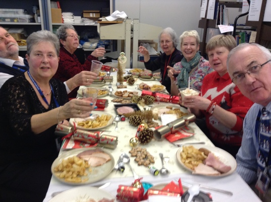 The Curator and Volunteers celebrate a successful 2014 with a Christmas lunch