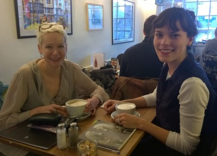 Curator and Project Consultant Angela and Project Consultant Carmen meet to discuss project organisation