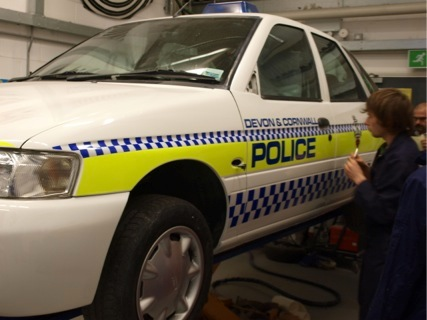 1990s-era police car