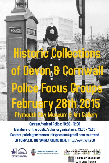 Community Consultation - focus groups and online survey to gather opinions on police heritage