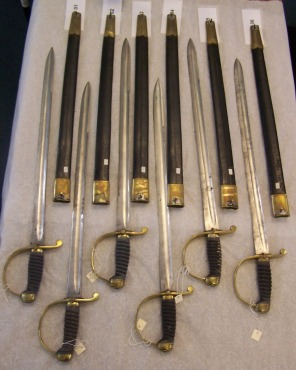 Set of 6 cutlasses