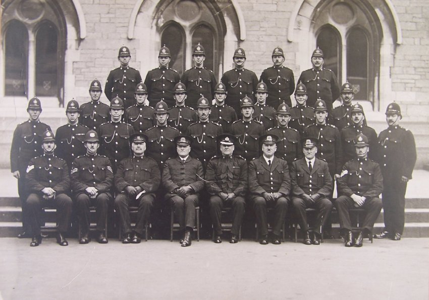Devon Constabulary Officers with HH Sanders