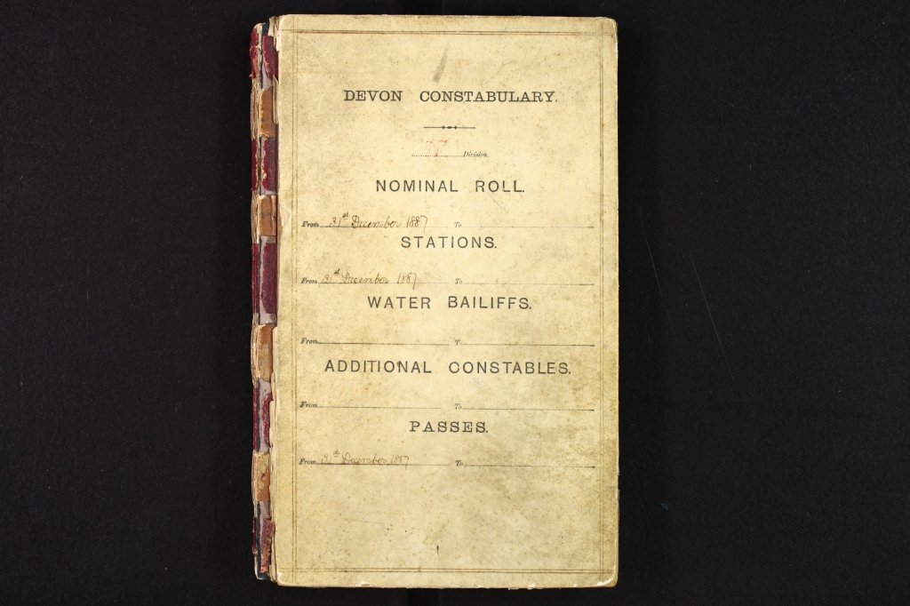 Devon Constabulary Nominal Roll 1887